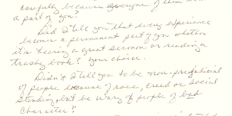 My Mother's Letters